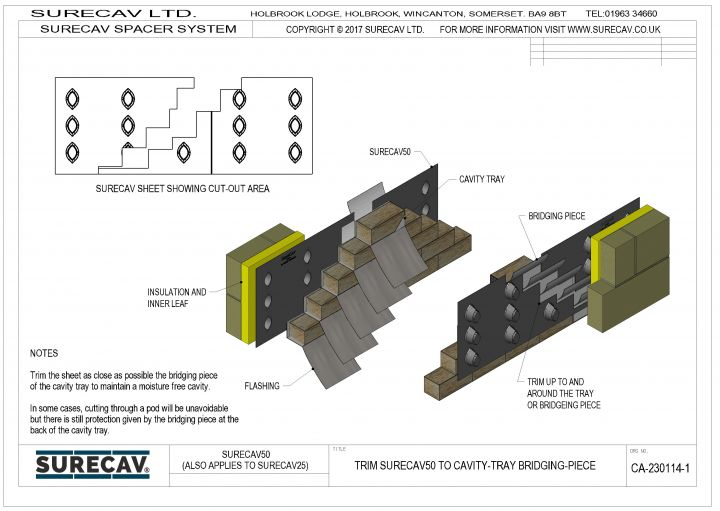 Cavity Tray Bridging-Piece