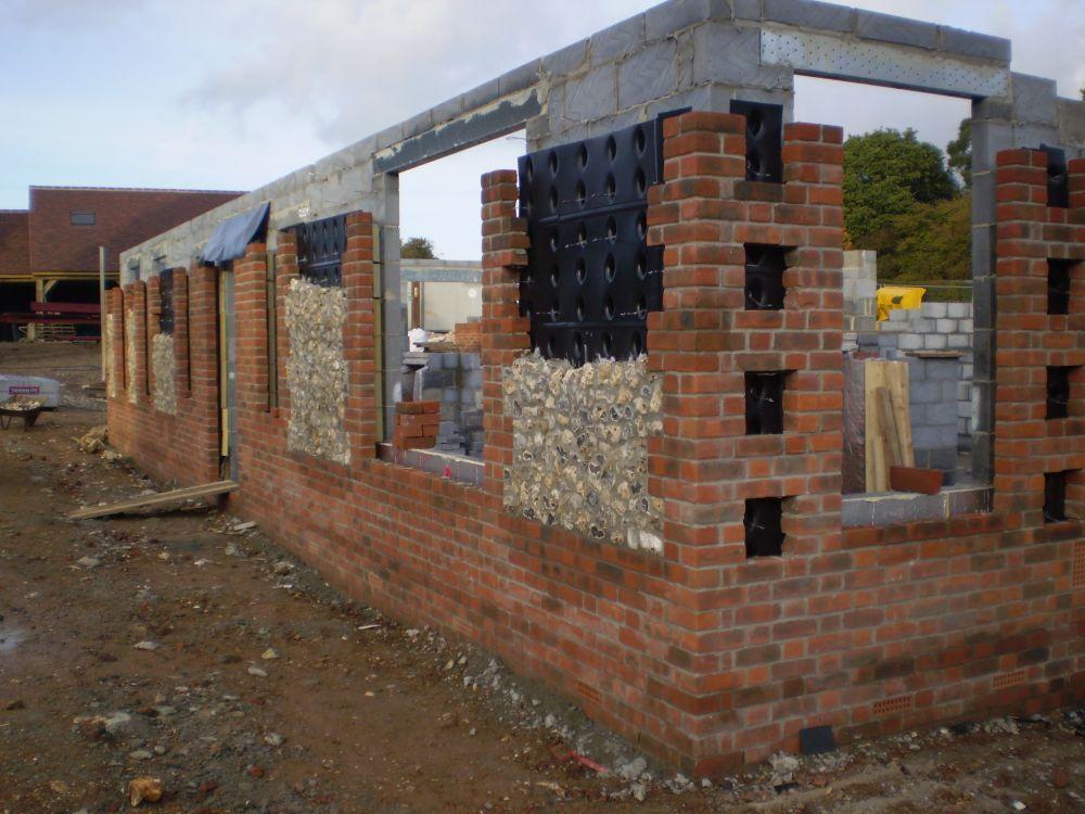 Surecav in action for Brick quoin detail