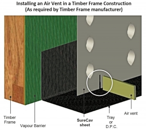 Installing an Air Vent in a Timber Frame Construction