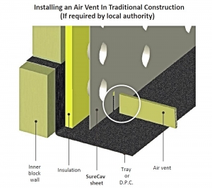 Installing an Air Vent in Traditional Construction