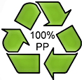 100% Recycled Polypropylene