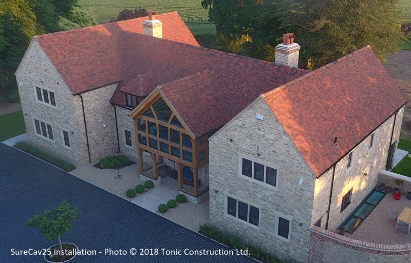Photo new build with SurCav25, Tonic Construction Ltd.